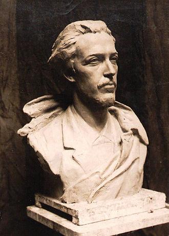 Benjamin Godard - Plaster bust of Benjamin Godard by Ernest-Charles Diosi