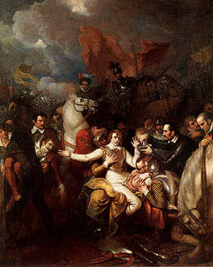 Woodmere Art Museum - Image: Benjamin West The Fatal Wounding of Sir Philip Sidney