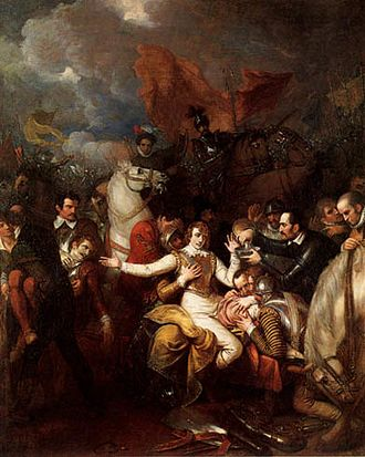 Philip Sidney - The Fatal Wounding of Sir Philip Sidney by Benjamin West