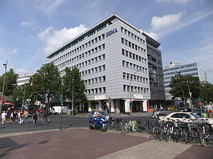 GEMA (German organization) - The Berlin offices of GEMA on Bayreuther Straße near Wittenbergplatz
