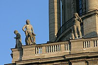 Allegorical representations of the civic virtues on the tower