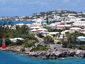Bermuda - Residential scene in Bermuda