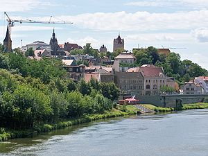 Stadtansicht von Bernburg