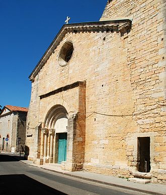 Bernis - The church in Bernis
