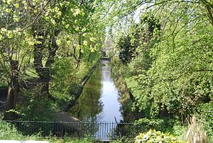 Croydon Canal - A short section of the canal remains in Betts Park, Anerley