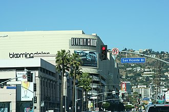 Beverly Center - Beverly Center and West Hollywood Hills