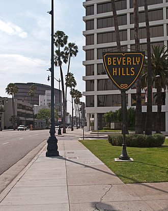 Beverly Grove, Los Angeles - Image: Beverly Hills sign on Wilshire