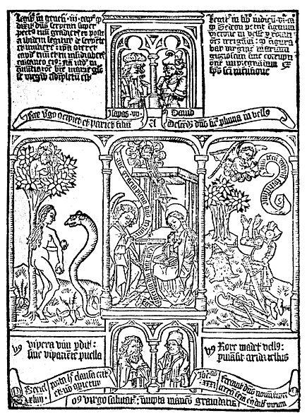 Blog Naturaleza educativa 435px-BibliaPauperum De la tradición oral y Gutenberg a la imprenta digital: evolución tecnológica de la impresión