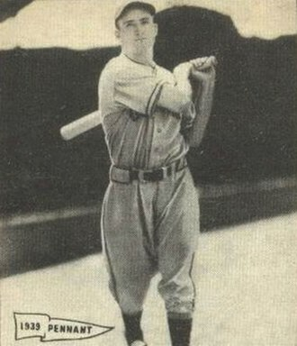 Billy Myers - Image: Billy Myers 1940 Play Ball card