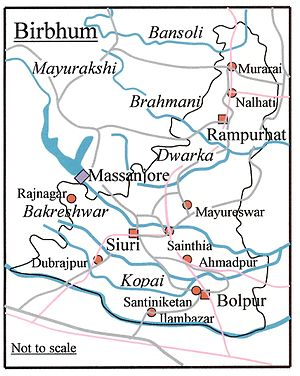Birbhum district - Rivers and towns of Birbhum