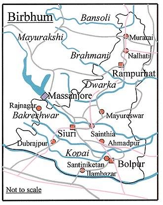 Birbhum district - Rivers and towns of Birbhum