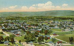Greenfield from Poet's Seat Tower, 1917