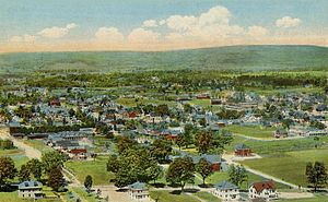 Greenfield, Massachusetts - Greenfield from Poet's Seat Tower, 1917