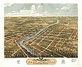 Bird's eye view of Fort Atkinson, Jefferson County, Wisconsin 1870. LOC 73694540.jpg