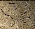 Bird detail, Wang Xiaoyuan relief stele, China, unearthed from Xipu Village, Pixian County, Sichuan, Eastern Han dynasty, dated year 3 of Yongjian period, stone - Sichuan Provincial Museum - Chengdu, China - DSC04742 (cropped).jpg
