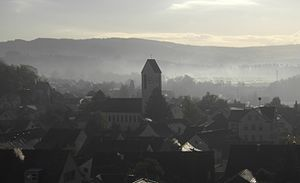 Birmenstorf, Aargau - View on the Catholic Church