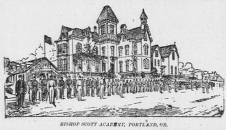 Bishop Scott Academy - Second building, as depicted on 1 January 1895