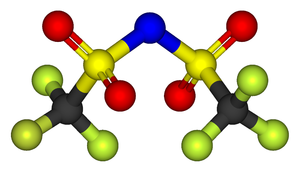 Bistriflimide - Ball-and-stick model of the bistriflimide anion