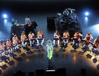Vulnicura - Björk performing at the New York City Center, accompanied by Alarm Will Sound, Arca and Manu Delago