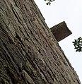 Blacksyke Tower, south wall water spout. Caprington, East Ayrshire.jpg