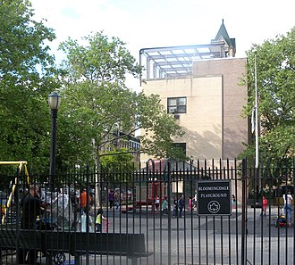 Upper West Side - Bloomingdale Playground, which retains the old name of Bloomingdale Road