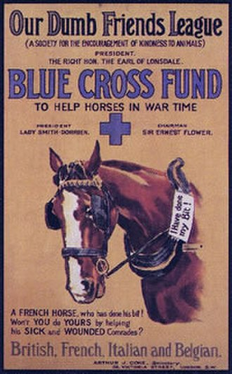 Blue Cross (animal charity) - 1916 poster promoting the Blue Cross Fund
