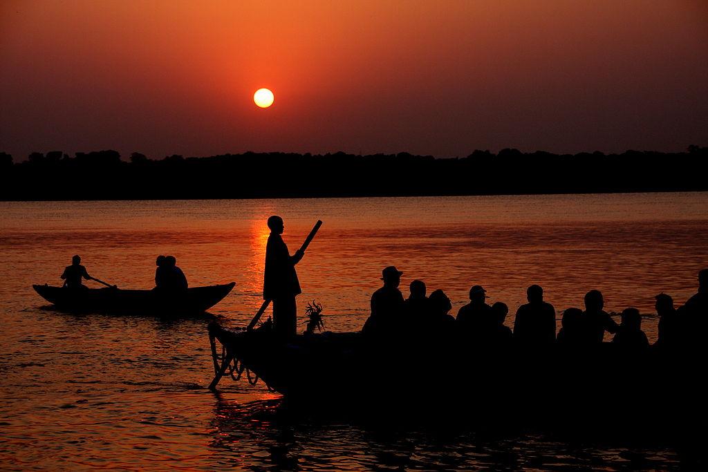 fileboat ride at sunrise on the ganges varanasijpg