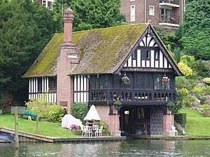 Percy Stone - Boathouse at Goring-on-Thames (1894)