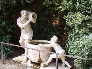 Valerio Cioli - Image: Boboli, Fontana dell'Uomo che scarica il secchio in un tino 02