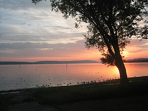 Allensbach - Sunset over Lake Constance
