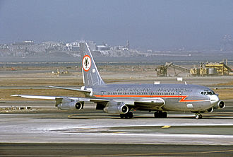 Boeing 720 - American Airlines 720-023B at San Francisco International Airport in 1970