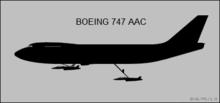 Siluetodiagramo da 747 aeraj aviadilŝipaviadiloj