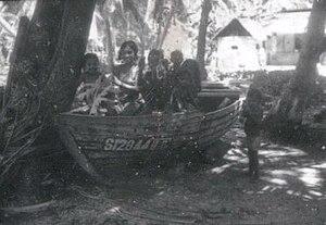 Bokkura - Children playing on a Bokkura, Fua Mulaku
