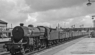 Bolton Interchange - Down iron ore train running through in 1963