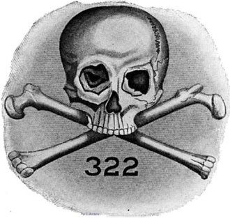 Simbolul societății secrete Skull and Bones