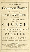 Book of Common Prayer 1760