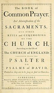 Book of Common Prayer 1760