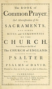 Book of Common Prayer cover