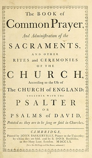 Book of Common Prayer cover