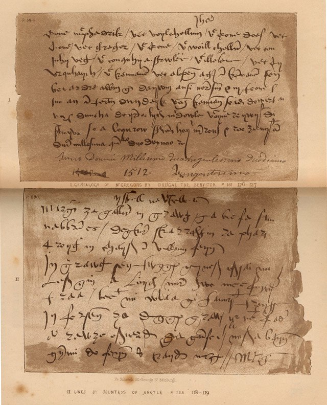 Book of Dean of Lismore page