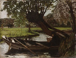 Boat with a Pollard Willow