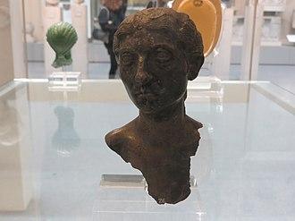 Boscoreale - Image: Boscoreale Treasure silver head (BM)