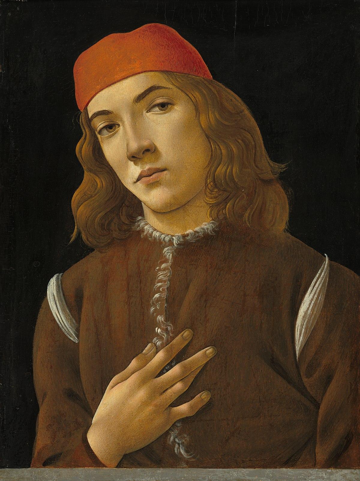 920423cda717d Portrait de jeune homme (Botticelli, Washington) — Wikipédia