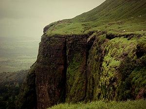 Brahmagiri (hill), Maharashtra - Brahmagiri Hills,Cliff side view.