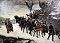 Bringing Home the Body of King Karl XII of Sweden, 1884 CE, by Gustaf Cederströms, Nationalmuseum, Stockholm.jpg