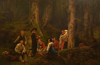 Gustave Brion - The pilgrims of Sainte Odile (Unterlinden Museum), Colmar
