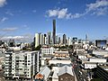 Brisbane CBD seen from Eleven Rooftop Bar at 757 Ann St, Fortitude Valley in July 2018, 01.jpg