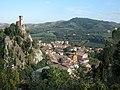 Brisighella, Panorama dalla Rocca Manfrediana. A sinistra la Torre dell'Orologio - panoramio.jpg