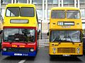 Bristol Harbourside City Line 9621 K621LAE and Badgerline 5531 EWS739W.jpg