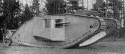 מבט מהצד על טנק סימן 1